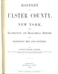 1880 History of Ulster County New York - Saugerties Section