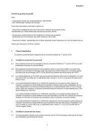 Avenant 3 1 Contrat de garantie de qualité entre - L'Association ...