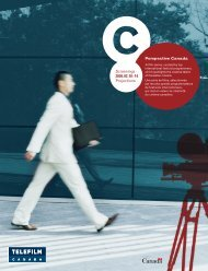 Consultez la brochure complète - Telefilm Canada