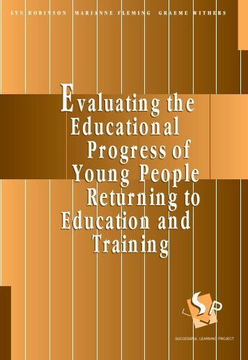 Evaluating the Educational Progress of Young ... - Victoria University