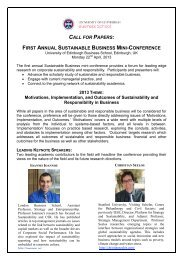 CALL FOR PAPERS: FIRST ANNUAL SUSTAINABLE BUSINESS ...