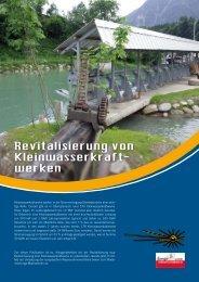 Revitalisierung von Kleinwasserkraft- werken - RES-e-Regions