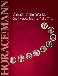 Changing the World, - Horace Mann School