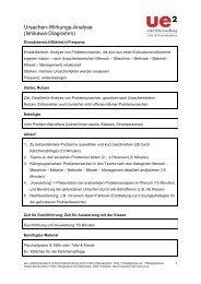 Ursachen-Wirkungs-Analyse (Ishikawa-Diagramm) - schoolpark.at
