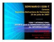SEMINARIO ISDB-T - DiBEG