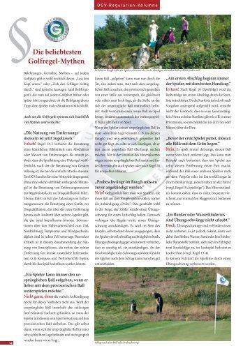 Die beliebtesten Golfregel-Mythen - Golfverband Berlin ...