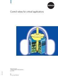 Control valves for critical applications - Samson Regeltechniek