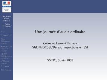 Une journée d'audit ordinaire - Actes du SSTIC