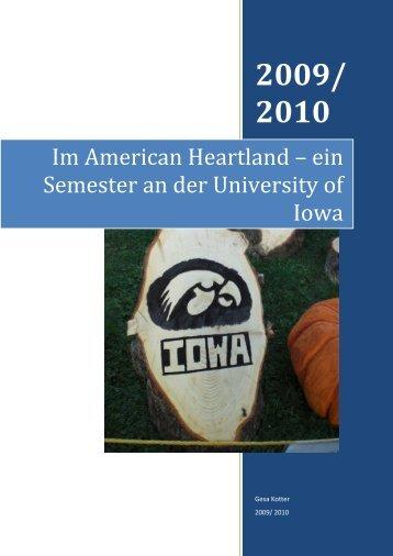 Iowa City 2009/10 - Wirtschaftswissenschaftliche Fakultät