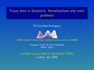 Fuzzy data in Statistics: formalizations and main problems