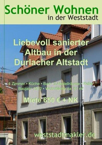 Liebevoll sanierter Altbau in der Durlacher Altstadt Liebevoll ...