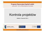 Kontrola projektów - Strona Departamentu Europejskiego Funduszu ...