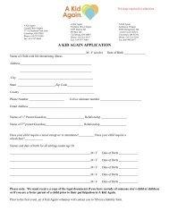 a kid again enrollment form