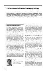 Vernetztes Denken und Employability