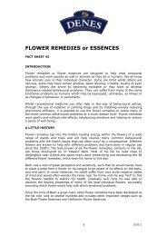 FLOWER REMEDIES or ESSENCES - Denes Natural Pet Care