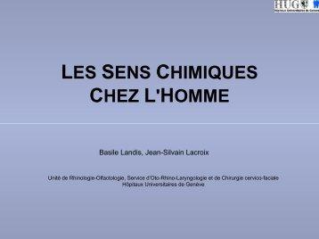 LES SENS CHIMIQUES CHEZ L'HOMME