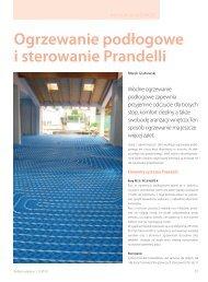 Ogrzewanie podłogowe i sterowanie Prandelli