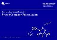 Discovery alliances - Evotec