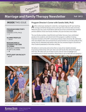 Annual Newsletter - College of Human Ecology - Kansas State ...
