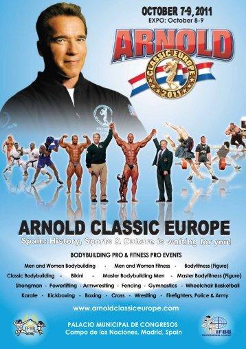 informe de comunicación de arnold classic europe