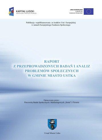 Raport z przeprowadzonych badań i analiz problemów społecznych ...