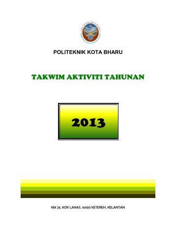 TAKWIM AKTIVITI TAHUNAN - Politeknik Kota Bharu