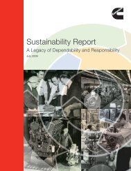 Sustainability Report - Cummins