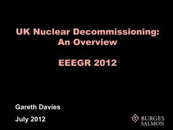 UK Nuclear Decommissioning - EEEGR