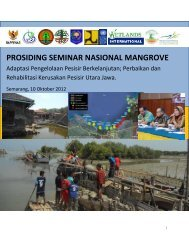 prosiding seminar nasional mangrove - Mangroves for the Future