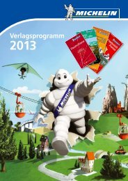 MICHELIN Verlagsprogramm 2013 - Travel House Media