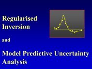Regularised Inversion Model Predictive Uncertainty Analysis