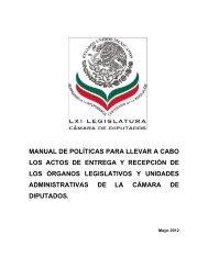 Manual de Políticas para llevar a cabo los actos de Entrega y ...