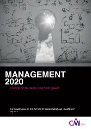Management 2020 - Leadership to unlock long-term growth