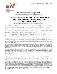 Información sobre discapacidad LAS ESTRATEGIAS PARA EL ... - IIN