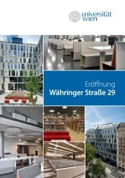 Eröffnung Währinger Straße 29 - Universität Wien Medienportal