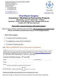 Final Report Surgery: Comenius 1 Multilateral Partnership Projects