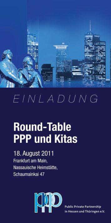 Round-Table PPP und Kitas - PPP-Verein
