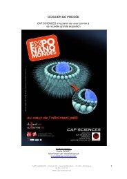 DOSSIER DE PRESSE nanomondes.pdf - Cap Sciences