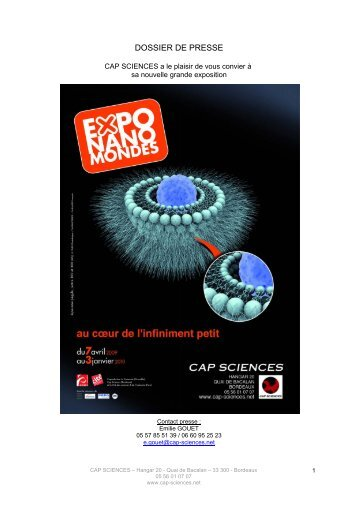 DOSSIER DE PRESSE nanomondes.pdf - Cap Sciences