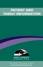 PATIENT AND FAMILY INFORMATION - New London Hospital