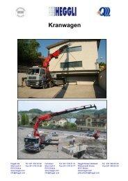 Lastwagenkran 150 MT - Heggli AG