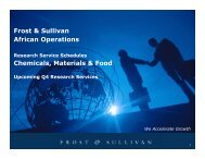 Frost & Sullivan African Operations Chemicals, Materials & Food
