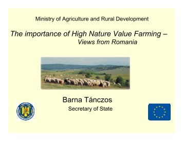 The importance of High Nature Value Farming – Barna ... - EFNCP