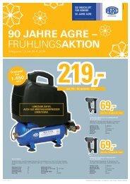 90 JAHRE AGRE – FRÜHLINGSAKTION