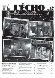 Bulletin municipal d'information, février 2012 ... - OPI des Tescou's