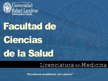 Facultad de Ciencias de la Salud, Universidad Rafael Landívar ...