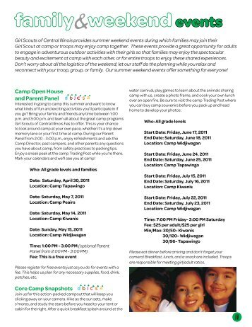 events - Girl Scouts of Central Illinois