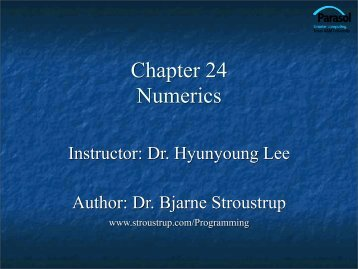Ch.24 Numerics - TAMU Computer Science Faculty Pages