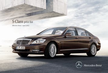 S 63 AMG Price List May 2012 - Mercedes-Benz