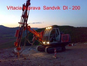 Vŕtacia súprava Sandvik DI - 200
